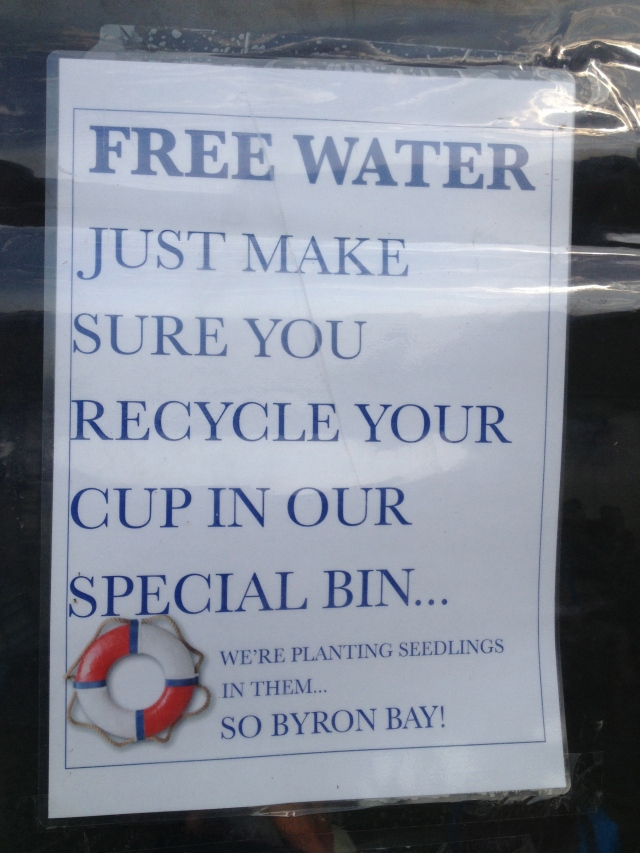 Typical Byron style! meeting a challenge with an environmental win!