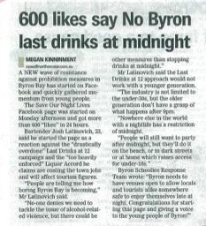 no byron last drinks