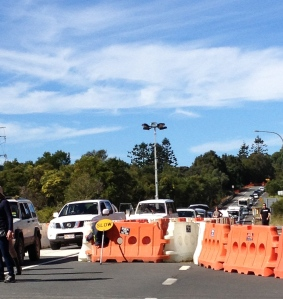Brunswick valley way- gridlock at 2.00 pm Friday